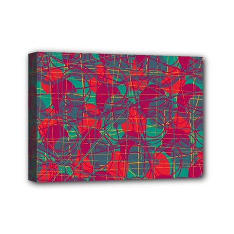 Decorative abstract art Mini Canvas 7  x 5