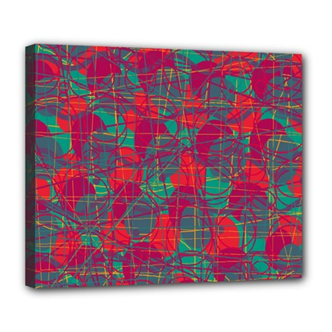 Decorative abstract art Deluxe Canvas 24  x 20
