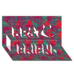 Decorative abstract art Best Friends 3D Greeting Card (8x4)