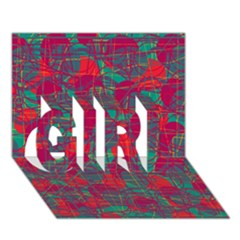 Decorative abstract art GIRL 3D Greeting Card (7x5)