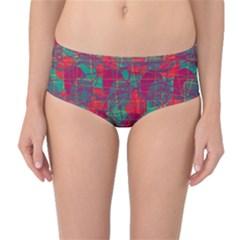 Decorative abstract art Mid-Waist Bikini Bottoms