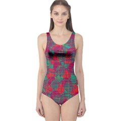 Decorative abstract art One Piece Swimsuit