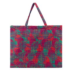 Decorative abstract art Zipper Large Tote Bag
