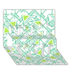Ethnic Geo Pattern Miss You 3D Greeting Card (7x5)