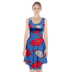 Pitaya Fruit Pattern Racerback Midi Dress
