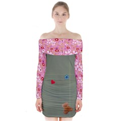 F KF Long Sleeve Off Shoulder Dress
