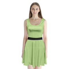 Ppg Green Split Back Mini Dress
