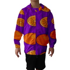 Orange Fruit Pattern Hooded Wind Breaker (Kids)