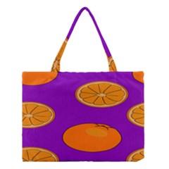 Orange Fruit Pattern Medium Tote Bag