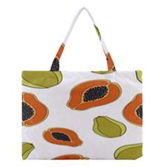 Papaya Fruit Pattern Medium Tote Bag