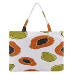 Papaya Fruit Pattern Medium Zipper Tote Bag