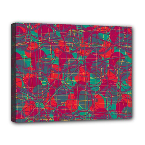 Decorative abstract art Canvas 14  x 11