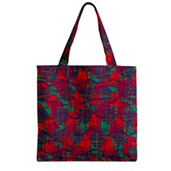 Decorative abstract art Zipper Grocery Tote Bag