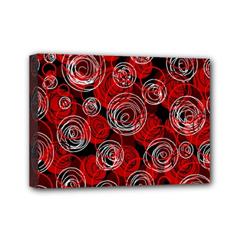 Red abstract decor Mini Canvas 7  x 5