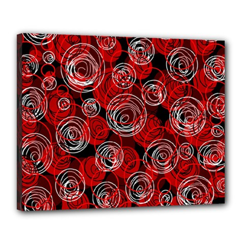 Red abstract decor Canvas 20  x 16