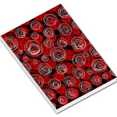 Red abstract decor Large Memo Pads