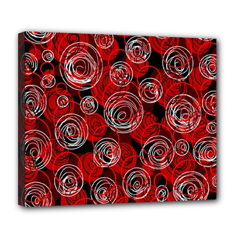 Red abstract decor Deluxe Canvas 24  x 20