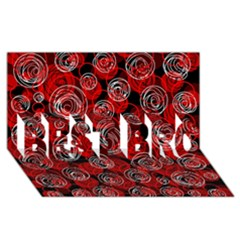 Red abstract decor BEST BRO 3D Greeting Card (8x4)