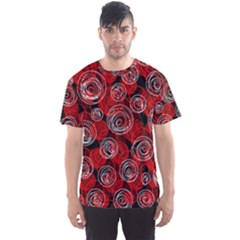 Red abstract decor Men s Sport Mesh Tee