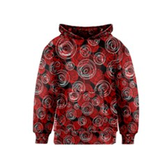 Red abstract decor Kids  Pullover Hoodie