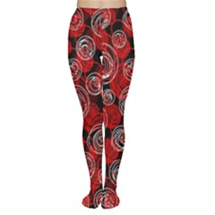 Red abstract decor Women s Tights