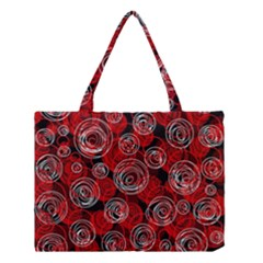 Red abstract decor Medium Tote Bag