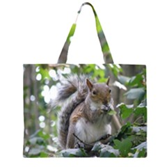 Gray Squirrel Eating Sycamore Seed Large Tote Bag