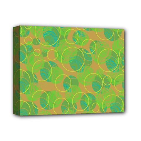 Green decorative art Deluxe Canvas 14  x 11