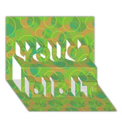 Green decorative art You Did It 3D Greeting Card (7x5)