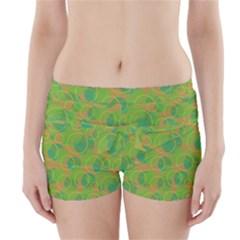 Green decorative art Boyleg Bikini Wrap Bottoms