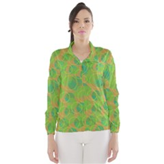 Green decorative art Wind Breaker (Women)