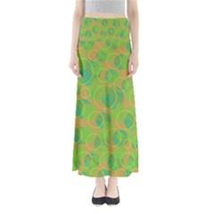 Green decorative art Maxi Skirts