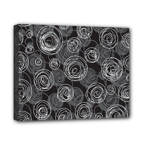 Gray abstract art Canvas 10  x 8