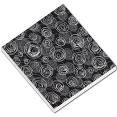 Gray abstract art Small Memo Pads