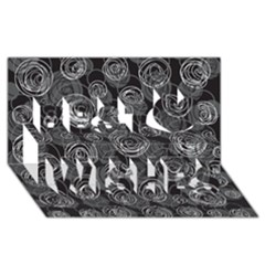 Gray abstract art Best Wish 3D Greeting Card (8x4)