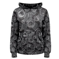 Gray abstract art Women s Pullover Hoodie