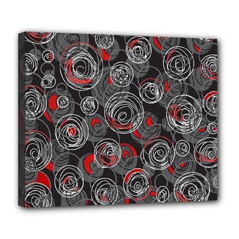 Red and gray abstract art Deluxe Canvas 24  x 20