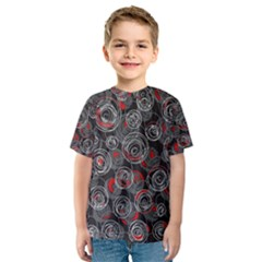 Red and gray abstract art Kids  Sport Mesh Tee
