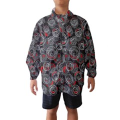 Red and gray abstract art Wind Breaker (Kids)