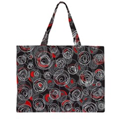 Red and gray abstract art Large Tote Bag