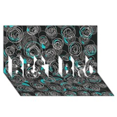 Gray and blue abstract art BEST BRO 3D Greeting Card (8x4)
