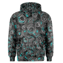 Gray and blue abstract art Men s Pullover Hoodie