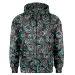 Gray and blue abstract art Men s Zipper Hoodie