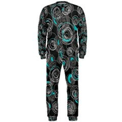 Gray and blue abstract art OnePiece Jumpsuit (Men)