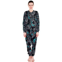 Gray and blue abstract art OnePiece Jumpsuit (Ladies)