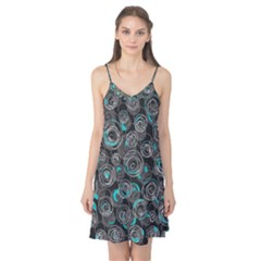 Gray and blue abstract art Camis Nightgown