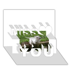 Westie Jumping Miss You 3D Greeting Card (7x5)
