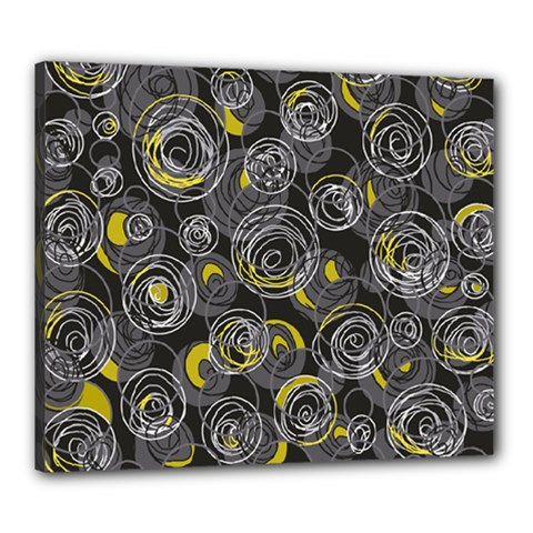 Gray and yellow abstract art Canvas 24  x 20
