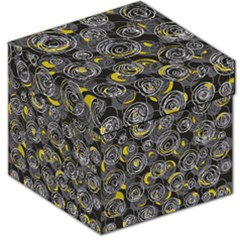 Gray and yellow abstract art Storage Stool 12