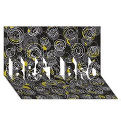 Gray and yellow abstract art BEST BRO 3D Greeting Card (8x4)